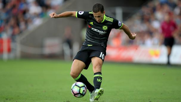 Chelsea forward Eden Hazard has so far impressed under the management of Antonio Conte