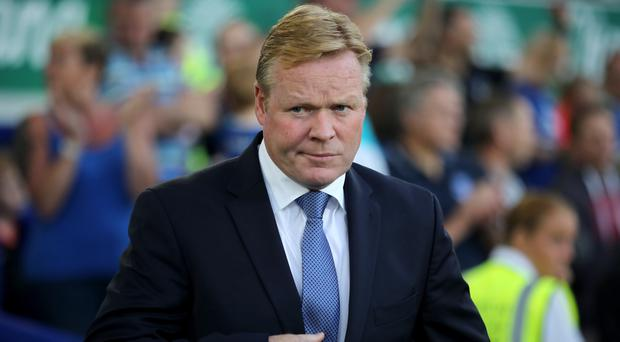 Ronald Koeman, pictured, revealed Romelu Lukaku will be rested for their midweek fixture in the EFL Cup