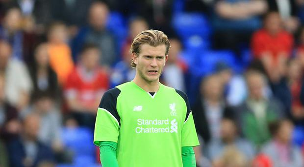 Goalkeeper Loris Karius is set for his competitive Liverpool debut.