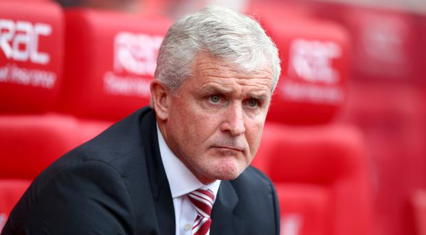 Mark Hughes' Stoke are bottom of the Premier League