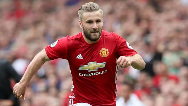 Manchester United's Luke Shaw has sustained a slight groin tear