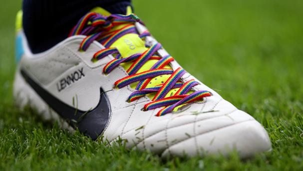 A number of Premier League players wore rainbow laces three years ago in support of an anti-homophobia campaign