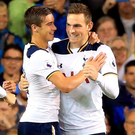 Breakthrough: Vincent Janssen is congratulated after his goal