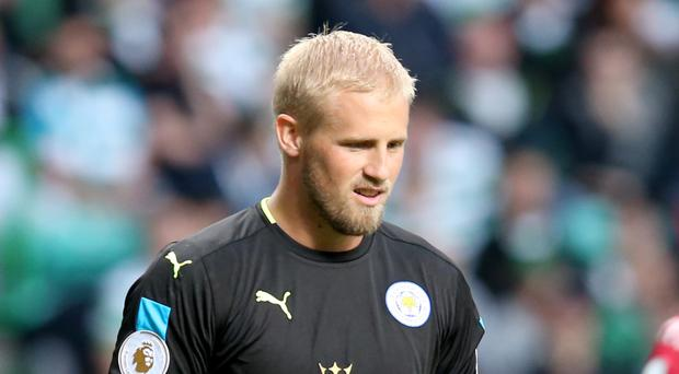 Leicester goalkeeper Kasper Schmeichel helped the Foxes win the Premier League last season