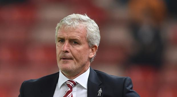 Stoke City manager Mark Hughes is under pressure at Stoke with his side bottom of the Premier League