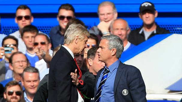 Jose Mourinho (right) has clashed with Arsenal manager Arsene Wenger (left) on several occasions.