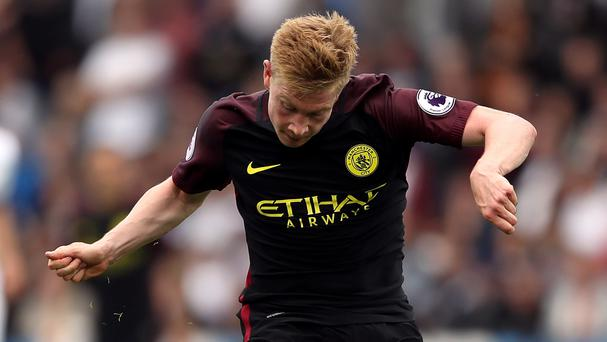 Manchester City midfielder Kevin De Bruyne suffered an injury in the Premier League win at Swansea