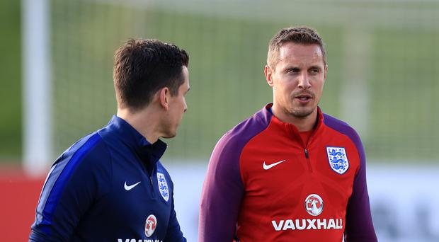 England's Phil Jagielka, pictured right, will not feature in this month's World Cup qualifiers