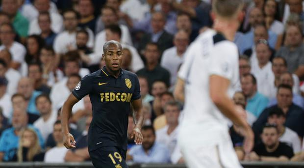 Djibril Sidibe in Champions League action against Tottenham this season
