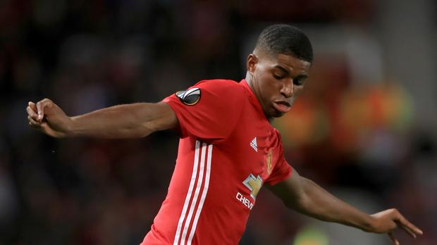 Manchester United youngster Marcus Rashford, pictured, believes he is benefiting from playing alongside the experienced Zlatan Ibrahimovic