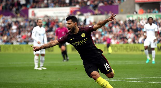 Manchester City's Sergio Aguero played 90 minutes for Argentina against Paraguay