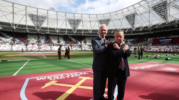 David Sullivan, pictured right with fellow West Ham co-chairman David Gold, has played down negativity behind the club's move to the former Olympic Stadium