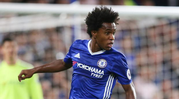 Chelsea's Willian is expected to miss Saturday's Premier League clash with Leicester on compassionate leave following the death of his mother