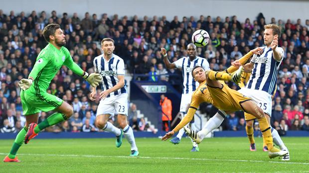 Tottenham's Dele Alli was denied by West Brom's Ben Foster several times before scoring a late leveller in their 1-1 draw.