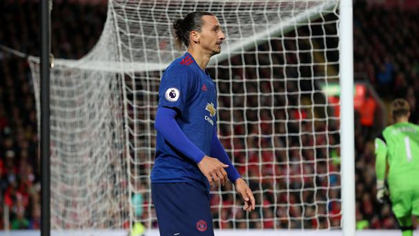 Zlatan Ibrahimovic was unable to score a Manchester United winner at Anfield