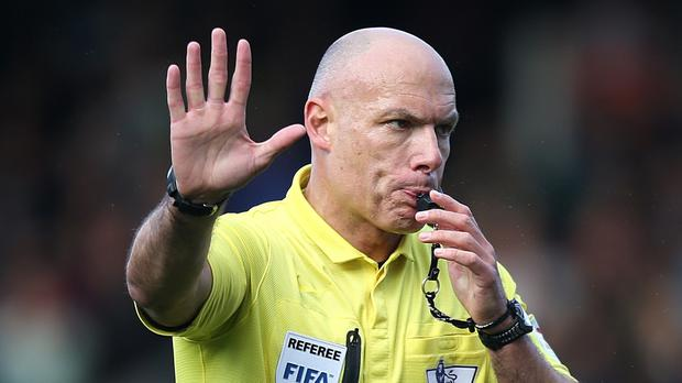 Howard Webb (pictured) believes Manchester United boss Jose Mourinho should be punished for making pre-match comments about referee Anthony Taylor