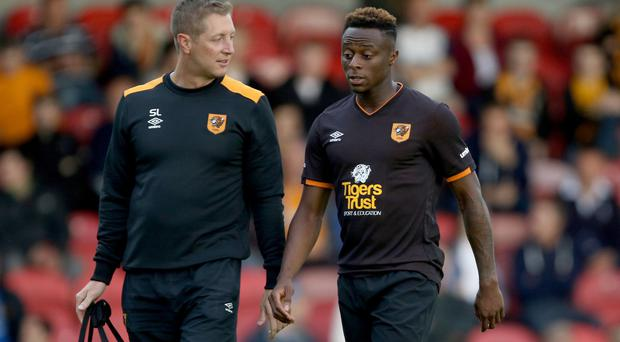 Moses Odubajo, right, will be out for six months