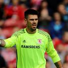 Middlesbrough head coach Aitor Karanka is delighted with how well keeper Victor Valdes (pictured) has settled at the club
