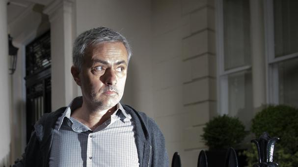 Former Chelsea manager Jose Mourinho arrives at his home in Belgravia as he closed in on a deal to join Manchester United