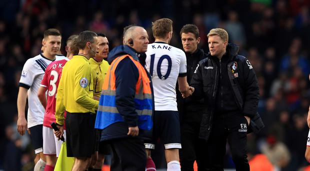 Bournemouth manager Eddie Howe, right, feels Tottenham have what it takes to sustain their Premier League title challenge this season