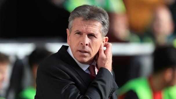 Claude Puel's Southampton travel to Manchester City on Sunday