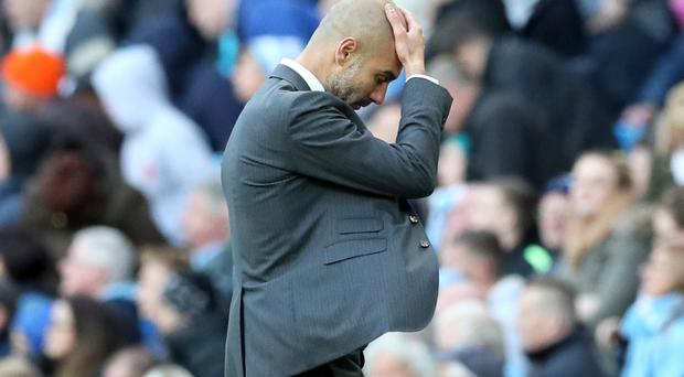 Pep Guardiola's side could not end their winless run
