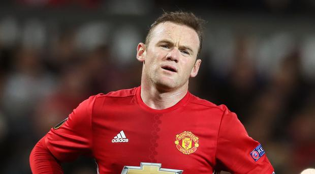 Wayne Rooney picked up an injury in training