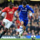 Eric Bailly was injured as Manchester United lost at Chelsea