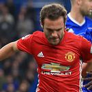 Manchester United's Juan Mata had a difficult afternoon back at Chelsea