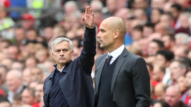 Jose Mourinho (left) and Pep Guardiola (right) lock horns again on Wednesday night