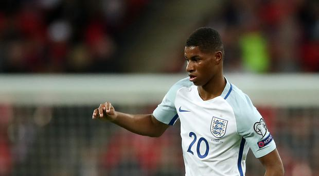 Manchester United striker Marcus Rashford has scored once in five senior appearances for England