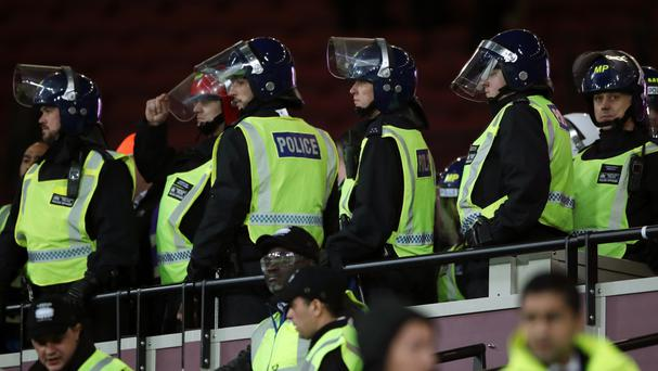 Police made seven arrests following crowd disturbances at West Ham's EFL Cup match against Chelsea at the London Stadium