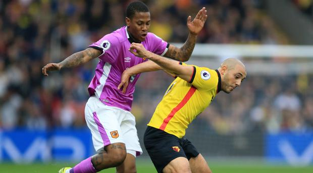 Nordin Amrabat, right, inspired Watford while Abel Hernandez missed Hull's best chance