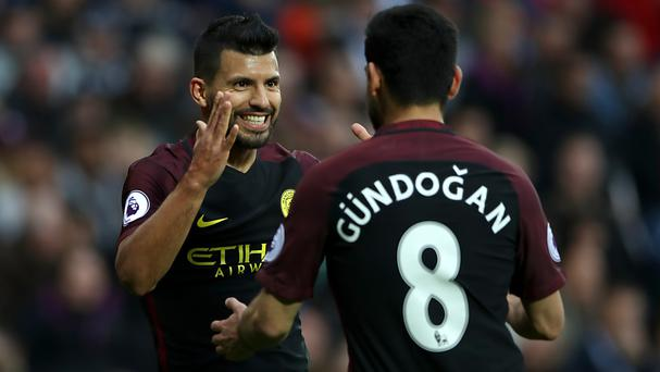 Sergio Aguero and Ilkay Gundogan were both on the scoresheet for Manchester City