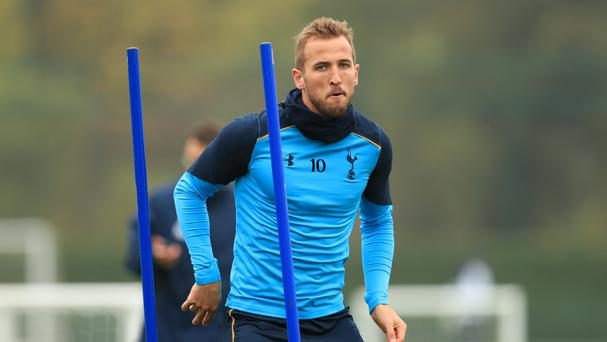 Tottenham striker Harry Kane is in contention to face Arsenal on Sunday.