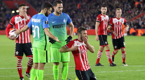 Sam McQueen claimed he was elbowed during Southampton's win against Inter Milan