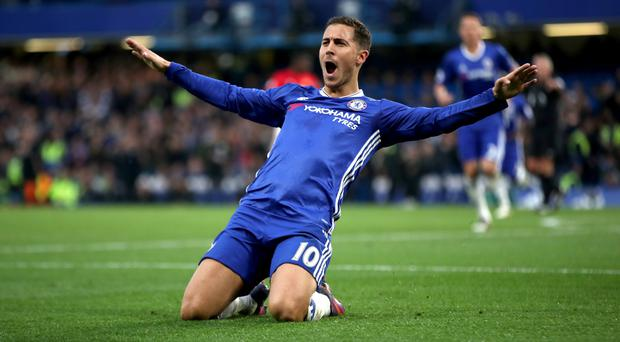 Antonio Conte has been impressed by Eden Hazard