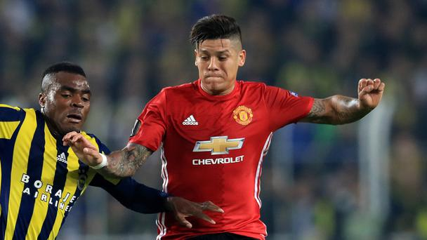 Manchester United's Marcos Rojo is looking for a response after the defeat at Fenerbahce