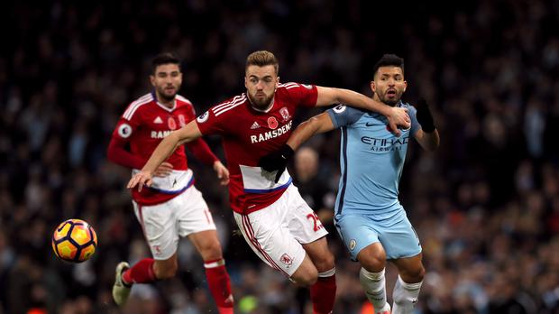Manchester City were frustrated by Middlesbrough at the Etihad Stadium