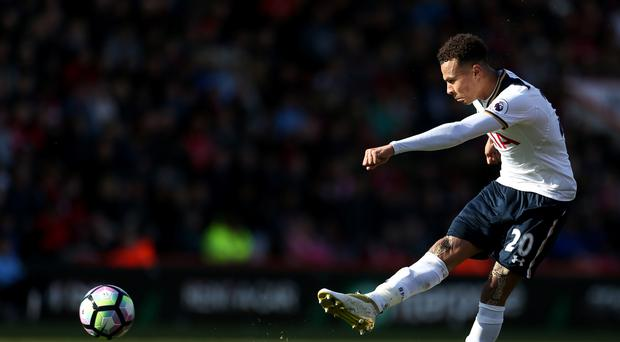 Dele Alli is set for a spell on the sidelines after twisting a knee in training