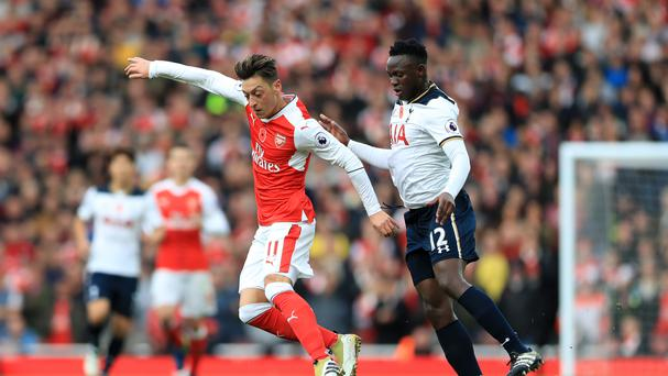 Mesut Ozil was Arsenal's chief creative force against Tottenham