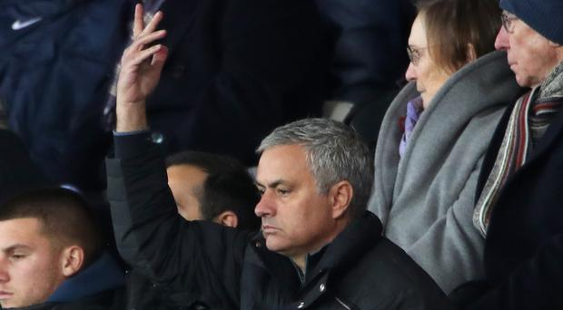 Manchester United manager Jose Mourinho was in the stands for his side's victory at Swansea