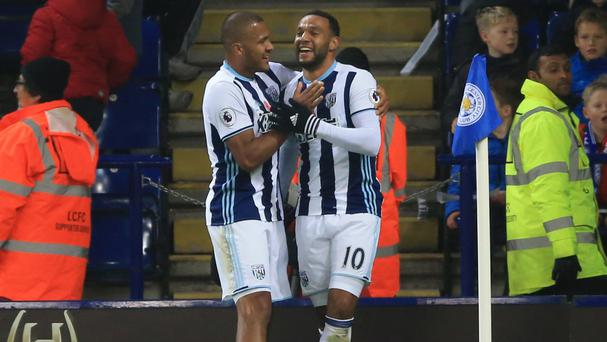 Matt Phillips, right, celebrates with Salomon Rondon after his winner