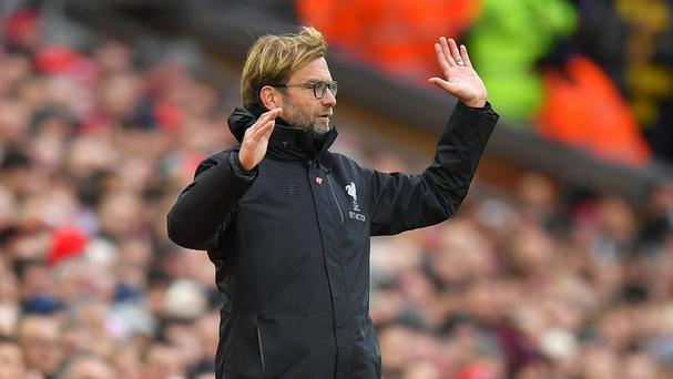 Jurgen KIopp's Liverpool are top of the Premier League table
