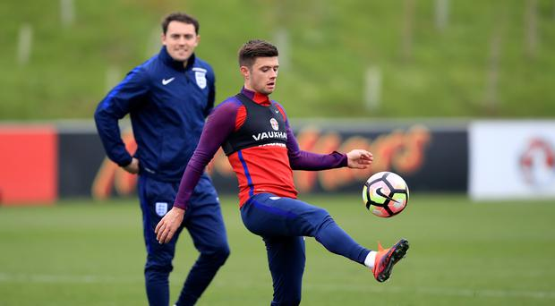Aaron Cresswell trains with England at St George's Park