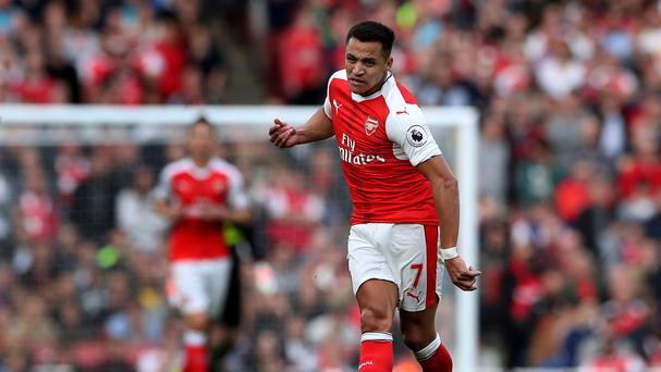 Alexis Sanchez has been operating as a central striker for Arsenal this season.