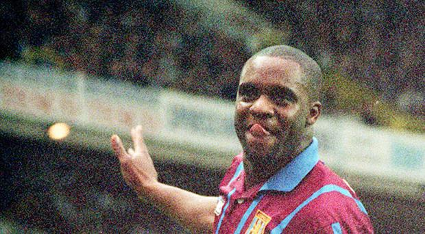 Dalian Atkinson, pictured playing for Aston Villa in 1994, died after being shot with a police taser.