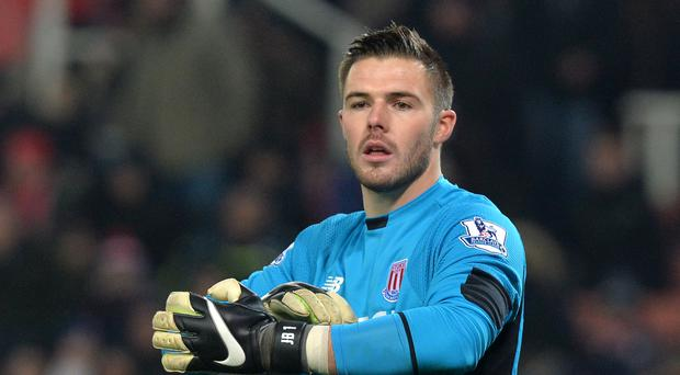 Stoke goalkeeper Jack Butland is almost fit again