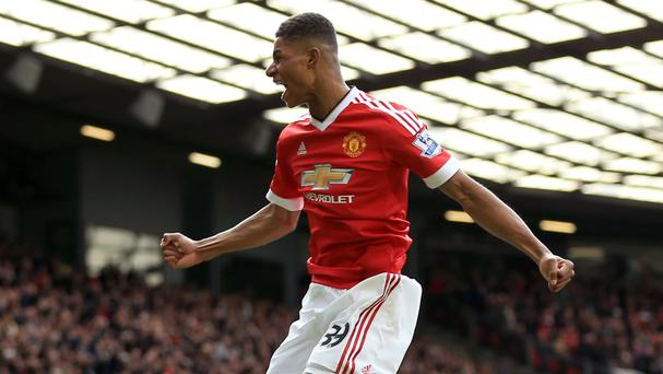 Marcus Rashford scored twice on his Premier League debut against Arsenal at Old Trafford