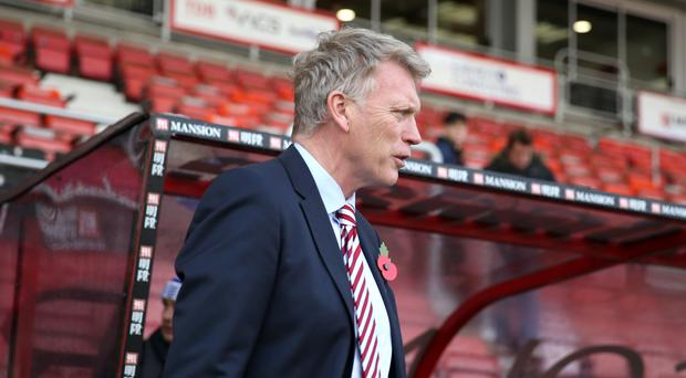 Sunderland manager David Moyes, pictured, will go head-to-head with Hull counterpart Mike Phelan